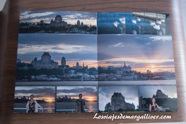 Ejemplo de página con fotografía compartida de álbum de Saal Digital - Los viajes de margalliver